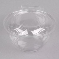 Polar Pak 5HGR016-TV Clear Tamper-Visible 16 oz. Round Bowl with Lid - 210/Case