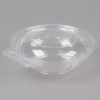 Polar Pak 5HGR008-TV Clear Tamper-Visible 8 oz. Round Bowl with Lid - 240/Case