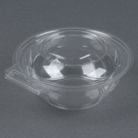 Polar Pak 5HGR012-TV Clear Tamper-Visible 12 oz. Round Bowl with Lid - 225/Case