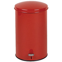 Rubbermaid FGST35E The Defenders Steel Round Red Medical Step Can with Rigid Plastic Liner 3.5 Gallon - (FGST35EPLRD)