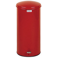 Rubbermaid FGST5E The Defenders Stainless Steel Round Red Medical Step Can with Galvanized Liner 5 Gallon - (FGST5EGLRD)