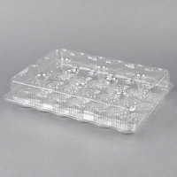 Polar Pak 2443 24 Compartment Clear Cupcake / Muffin Takeout Container - 50/Case