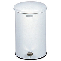 Rubbermaid FGST35E The Defenders Steel Round White Medical Step Can with Rigid Plastic Liner 3.5 Gallon - (FGST35EPWH)
