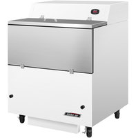 Turbo Air TMKC-34S-WS 34 inch Single Sided White Vinyl and Stainless Steel Milk Cooler - 115V