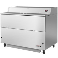 Turbo Air TMKC-58S-SS 58 inch Single Sided Stainless Steel Milk Cooler - 115V