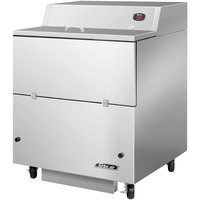 Turbo Air TMKC-34S-SA 34 inch Single Sided Stainless Steel Milk Cooler - 115V
