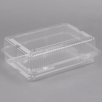 Polar Pak 2134 12 inch x 8 inch x 4 inch Jumbo Clear Hinged Deep Takeout Container - 150/Case