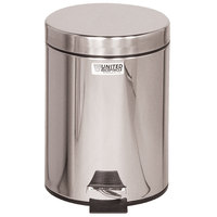 Rubbermaid FGMST15 Medi-Can™ Stainless Steel Step-On Medical Waste Receptacle with Plastic Liner 1.5 Gallon (FGMST15SSPL)