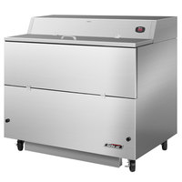 Turbo Air TMKC-49S-SS 49 inch Single Sided Stainless Steel Milk Cooler - 115V