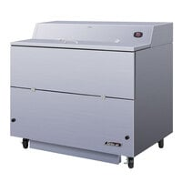 Turbo Air TMKC-49S-WS 49 inch Single Sided White Vinyl and Stainless Steel Milk Cooler - 115V