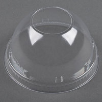Dart Solo 16LCDH Clear PET Dome Lid with 1 1/2 inch Hole - 50 / Pack