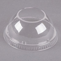 Dart 16LCDHX Clear PET Dome Lid with 2 inch Hole - 50/Pack