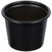 Dart Solo P100BLK Black 1 oz. Plastic Souffle / Portion Container - 250/Pack