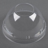 Dart Solo 16LCDH Clear PET Dome Lid with 1 1/2 inch Hole - 1000/Case