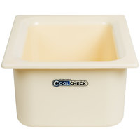 Carlisle CM1101C1402 Coldmaster CoolCheck 1/2 Size White Cold Food Pan - 6 inch Deep