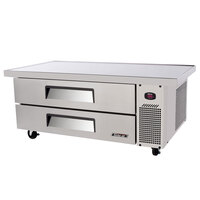 Turbo Air TCBE-52SD-E 52 inch Two Drawer Refrigerated Chef Base with Extended Top - 11 cu. ft.