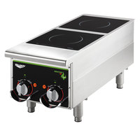 Vollrath Cayenne 912HIMC Dual Hob Heavy Duty Induction Hot Plate with Manual Controls 208/240V