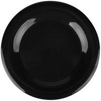 Carlisle 3302403 12 inch Black Sierrus Wide Rim Plate - 12/Case