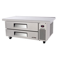 Turbo Air TCBE-48SD-E 48 inch Two Drawer Refrigerated Chef Base with Extended Top - 9.2 cu. ft.