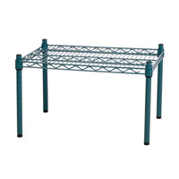 Regency 24 inch x 18 inch x 14 inch Green Epoxy Coated Wire Dunnage Rack - 600 lb. Capacity