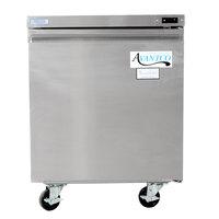 Avantco TUC27F 27 inch Single Solid Door Undercounter Freezer
