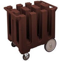 Cambro DC575131 Dark Brown Poker Chip Dish Dolly / Caddy with Vinyl Cover - 6 Column