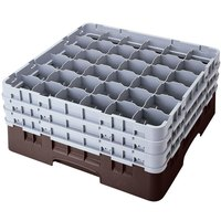 Cambro 36S1114167 Brown Camrack 36 Compartment 11 3/4 inch Glass Rack