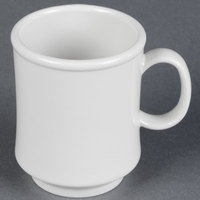 GET TM-1308-W Diamond White 8 oz. White Tritan Stacking Mug - 24/Case