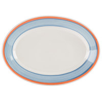 Homer Laughlin 1538084 Imperia 9 1/2 inch Rolled Edge Oval Platter - 24 / Case