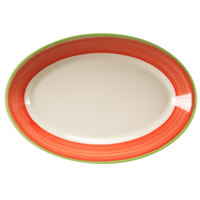 Homer Laughlin 1548083 Toulon 10 1/2 inch Rolled Edge Oval Platter - 24 / Case