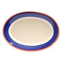 Homer Laughlin 1578072 Sovona 13 3/8 inch Rolled Edge Oval Platter - 12 / Case