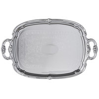 Carlisle 608919 Celebration 20 inch x 13 1/2 inch Embossed Oval Tray with Integral Handles - 12/Case