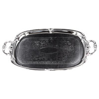 Carlisle 608919 Celebration 20 inch x 13 1/2 inch Embossed Oval Tray with Integral Handles - 12 / Case
