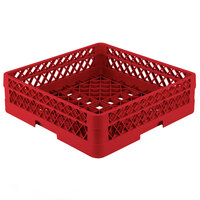 Vollrath TR1AA Traex Full-Size Red 7 1/4 inch Open Rack with 2 Extenders