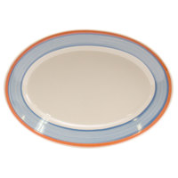 Homer Laughlin 1578084 Imperia 13 3/8 inch Rolled Edge Oval Platter 12 / Case