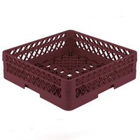 Vollrath TR1A Traex Full-Size Burgundy 5 1/2 inch Open Rack with 1 Extender