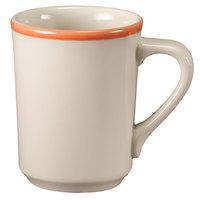 Homer Laughlin 1308082 Martiques 8.25 oz. Rolled Edge Denver Mug - 36/Case