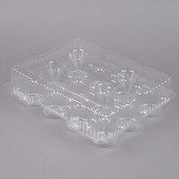 Par-Pak 9513 12 Compartment Clear Hinged PET Cupcake Take Out Container - 5/Pack