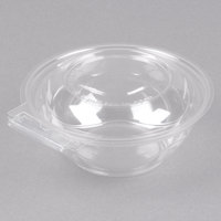 Polar Pak 5HGR012-TV Clear Tamper-Visible 12 oz. Round Bowl with Lid - 75/Pack