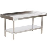 Regency 16 Gauge 24 inch x 48 inch Stainless Steel Equipment Stand with Undershelf