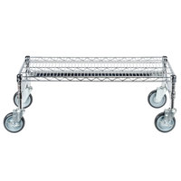 Regency 18 inch x 36 inch x 14 inch Chrome Plated Mobile Dunnage Rack Kit with Tubular Frame - 600 lb. Capacity