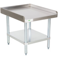 Regency 16 Gauge 30 inch x 24 inch Stainless Steel Equipment Stand with Galvanized Undershelf
