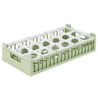 Vollrath 52826 Signature Half-Size Light Green 18-Compartment 10 3/8 inch XX-Tall Rack
