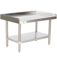 Regency 16 Gauge 24 inch x 36 inch Stainless Steel Equipment Stand with Undershelf