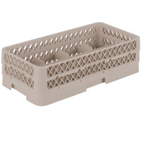 Vollrath HR1B1A Traex Half-Size Beige 8 Compartment 5 1/2 inch Tall Glass Rack