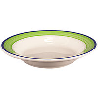 Homer Laughlin 2535083 Shamrock and Cobalt 12.75 oz. Rolled Edge Rim Soup Bowl - 24/Case