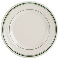 Homer Laughlin 2030001 Green Band Rolled Edge 7 1/8 inch Plate - 36/Case