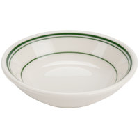 Homer Laughlin 1630001 Green Band Rolled Edge 6 oz. Fruit Bowl - 36/Case
