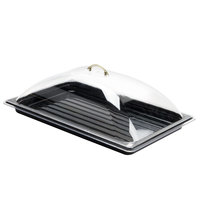 Sample and Display Tray Kit with Black Polycarbonate Tray and Dome Cover