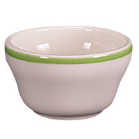 Homer Laughlin 1015078 Sunflower and Shamrock 7.25 oz. Rolled Edge Bouillon Bowl - 36/Case